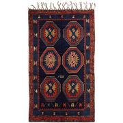 Sale 8860C - Lot 28 - An Antique Caucasian Lesghi Rug, Circa 1950, in Handspun Wool 146x94cm