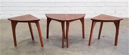 Sale 9137 - Lot 1040 - Set of 4 retro side tables (h:39cm)