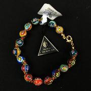 Sale 8402D - Lot 92 - Murano Millefiori Art Glass Bracelet (Length - 20cm)