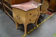 Sale 8480 - Lot 1126 - Small Serpentine Chest with Marble Top