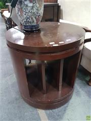 Sale 8601 - Lot 1442 - Pair of Round Side Tables on Castors