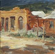 Sale 8738 - Lot 589 - Mary Elizabeth McLeish - Country Town Scene 35 x 36cm