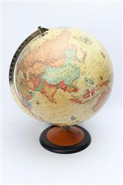 Sale 8739 - Lot 12 - Topographical World Globe on Stand