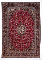 Sale 8790C - Lot 8 - A Persian Kashan From Isfahan Region 100% Wool Pile On Cotton Foundation, 274 x 390cm