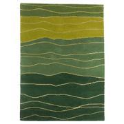 Sale 8860C - Lot 29 - An Indian Organic Waves, in Handspun Wool & Silk 140x200cm