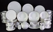 Sale 8968 - Lot 16 - Maxwell Williams Gold Rimmed Dinner Service