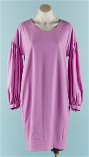 Sale 9090F - Lot 35 - A TRELISE COOPER DRESS; in Lilac, featuring a scoop neckline, and a voluminous ballon sleeve gathering together at the wrist size S