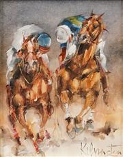 Sale 8583 - Lot 545 - Patrick Kilvington (1922 - 1990) - Right Gutsy Ponys, 1989 24 x 19cm