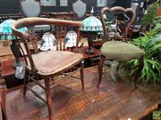 Sale 8601 - Lot 1036 - Timber Tub Chair & Another (2)