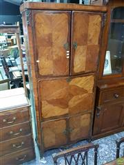 Sale 8617 - Lot 1012 - 19th Century French Tall Kingwood Secretaire Abattant, with quarter veneered panels, the upper doors enclosing shelves & 8 drawers,...