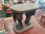 Sale 8676 - Lot 1152 - Elephant Footstool
