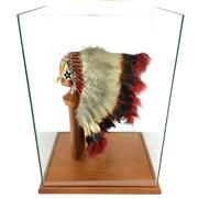Sale 8758 - Lot 57 - Navajo Feathered Headdress in Display Case