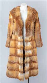 Sale 8828F - Lot 3 - An Australian Red Fox Full-Length Coat By Hammerman Furs, Size Medium/Large