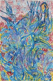 Sale 8901 - Lot 528 - George Gittoes (1949 - ) - Vincents Irises in the Secret Garden, 2012 120.5 x 80 cm