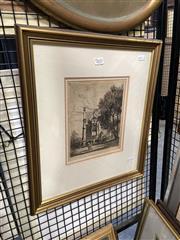 Sale 8895 - Lot 2032 - Lionel Lindsay - framed etching ed. no.16, signed lower left