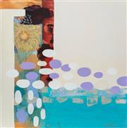 Sale 8990H - Lot 67 - Mary N Chriss, Abstract, mixed media on canvas 61cm x 61cm