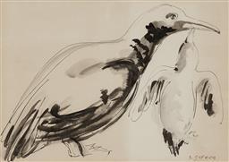 Sale 9212A - Lot 5007 - SALVATORE ZOFREA (1946 - ) - Penguin Feeding its Young 25 x 35.5 cm (frame: 51 x 59 x 3 cm)