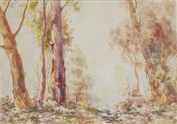 Sale 9191A - Lot 5013 - ARNOLD JARVIS (1881 - 1960) Summer Landscape watercolour 24 x 34 cm (frame: 53 x 62 x 3 cm) signed