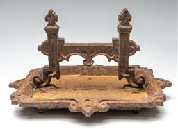 Sale 9211 - Lot 89 - A Large Victorian Cast Iron Boot Scraper in Original Condition (H:27cm L:43cm)