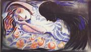 Sale 8578T - Lot 2077 - Charles Blackman (1928 - ) - Orpheus 36 x 61.5cm (frame size: 63 x 88.5cm)