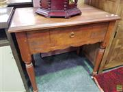Sale 8601 - Lot 1148 - Timber Table with Single Drawer