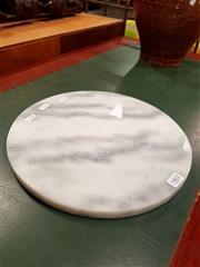 Sale 8676 - Lot 1069 - White Marble Cheese Board (Diameter 30cm)