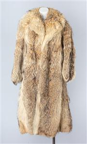 Sale 8828F - Lot 9 - A Canadian Wolf Full-Length Coat, Size Medium