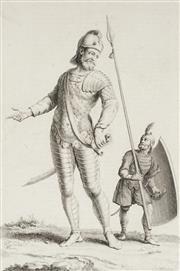 Sale 8838A - Lot 5133 - Augustin Calmet (1672 - 1757) - Armure DAirain du Geant Goliat 33 x 21cm