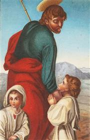 Sale 8870 - Lot 2021 - Artist Unknown - John The Baptist 24 x 15.5cm