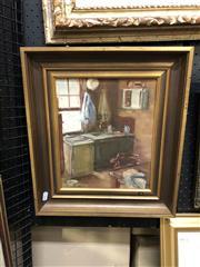 Sale 8861 - Lot 2043 - Artist Unknown - Kitchen Corner42 x 37cm (frame) unsigned