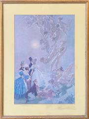 Sale 8961 - Lot 2091A - A Norman Lindsay decorative print, 70 x 53cm