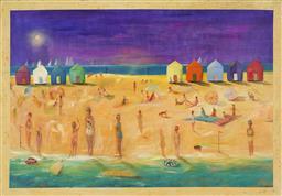 Sale 9195 - Lot 535 - MELISSA EGAN (1959 - ) - Beach Scene 142 x 204 cm