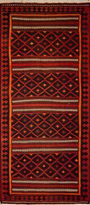 Sale 8455C - Lot 34 - Vintage Afghan Kilim 300cm x 130cm