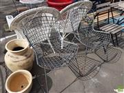 Sale 8601 - Lot 1220 - Pair of Metal Chairs