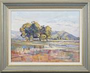Sale 8699 - Lot 2042 - Angela Van Wyk - Tumut Plains 54 x 59.5cm
