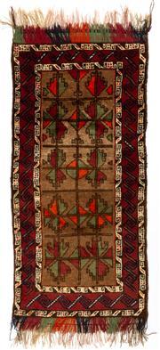 Sale 8715C - Lot 172 - A Persian Balouchi Village Rug, Wool On Cotton Foundation, 195 x 87cm