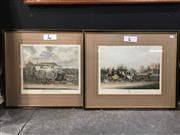 Sale 8776 - Lot 2074 - Pair of Coaching Prints