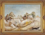 Sale 8779 - Lot 2040 - Ronald Edelstein - Rock Study at Mt. Buffalo 44.5 x 59.5 cm