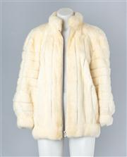 Sale 8828F - Lot 2 - A White Mink Jacket By Christian Dior For Hammerman Furs, Size Medium