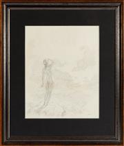 Sale 8871H - Lot 111 - Norman Lindsay - Nude 37x29cm