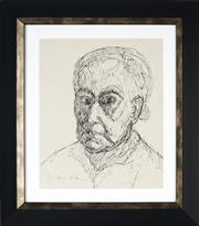 Sale 8908A - Lot 5008 - Desiderius Orban (1884 - 1986) - Portrait of an Old Woman 30.5 x 24 cm