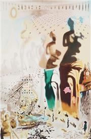 Sale 9032A - Lot 5042 - Salvador Dali (1904 - 1989) - Untitled (Classical Figure in Ampitheatre) 64 x 48.5 cm (frame: 110 x 87 x 3 cm)