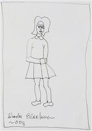 Sale 9072A - Lot 5017 - Charles Blackman (1928 - 2018) - Untitled (Girl), 2008 42 x 30 cm (frame: 84 x 70 cm)
