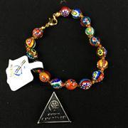 Sale 8402D - Lot 93 - Murano Millefiori Art Glass Bracelet (Length - 20cm)