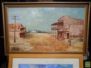 Sale 8407T - Lot 2094 - Framed Oil on Board of a Country Town Scene, signed
