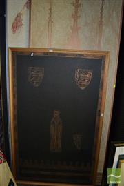 Sale 8458 - Lot 2055 - Group of (4) Medieval Style Copper Rubbings (framed/various sizes)