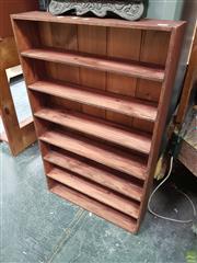 Sale 8637 - Lot 1057 - Two Timber Shelf Units