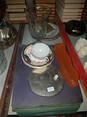 Sale 8766 - Lot 78 - Collection Of Sundries Incl HMV Records , Mirror And Ceramics