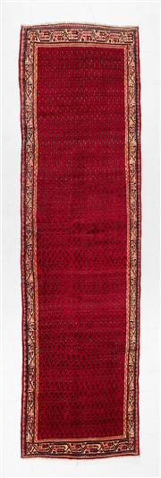 Sale 8780C - Lot 255 - An Afghan Gabbeh Kilim, Wool On Cotton Foundation Classed As Tribal Rugs, 405 x 109cm