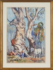 Sale 8901A - Lot 5007 - Alfred Chambers (1937 - ) - Untitled 53 x 37 cm